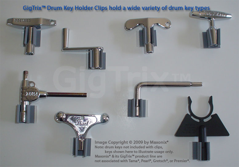 GigTrix Drum Key Clips